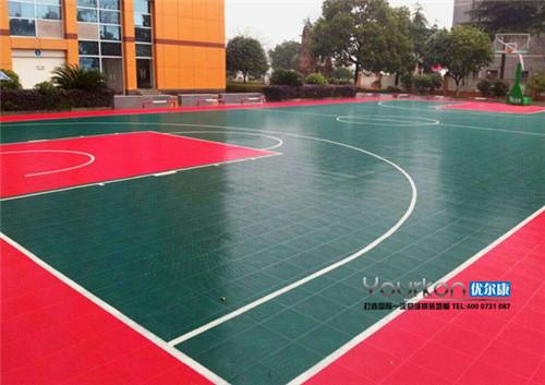 NBA麦迪比赛用优尔康悬浮拼装篮球场案例