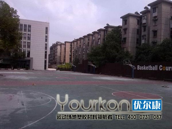 湖南电气职院悬浮拼装篮球场马上开工
