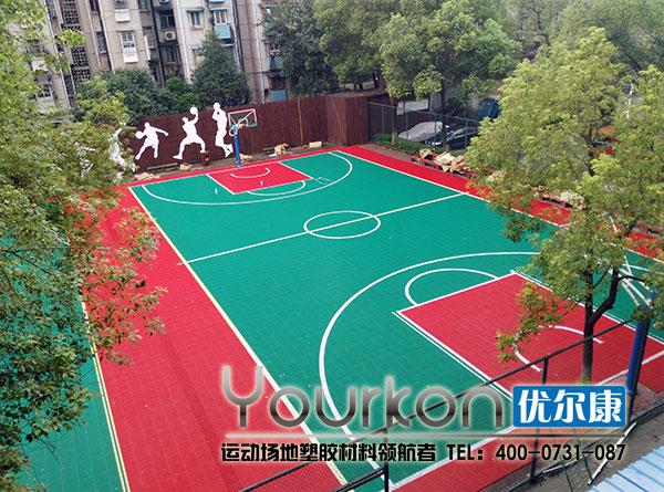 湖南电气职院拼装篮球场正式开工