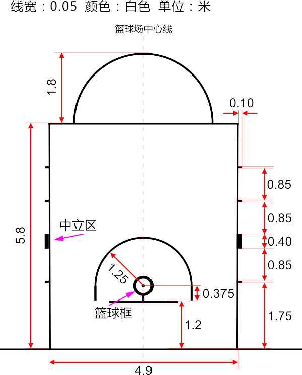 拼装地板篮球场划线