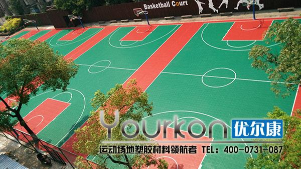 湖南电气职业技术学院悬浮拼装地板篮球场效果图