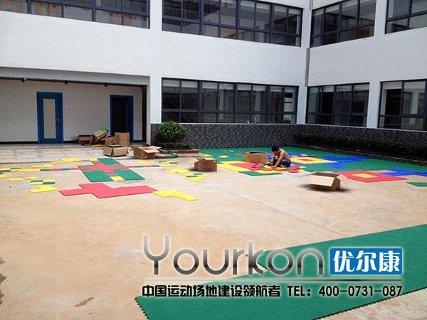 湖南省老干中心悬浮拼装幼儿园施工中