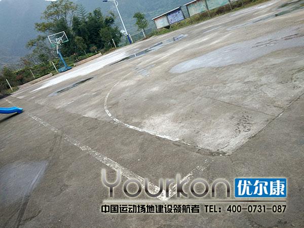 怀化新晃竹树村悬浮拼装地板施工前场地情况工