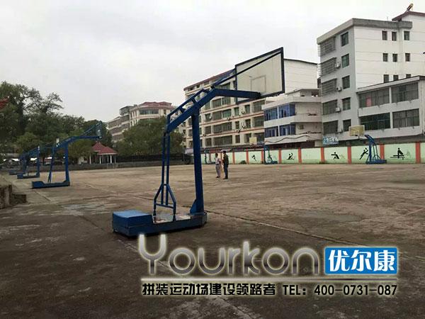 施工前的篮球场局部照片