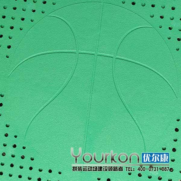 篮球场专用嵌入式地板近照