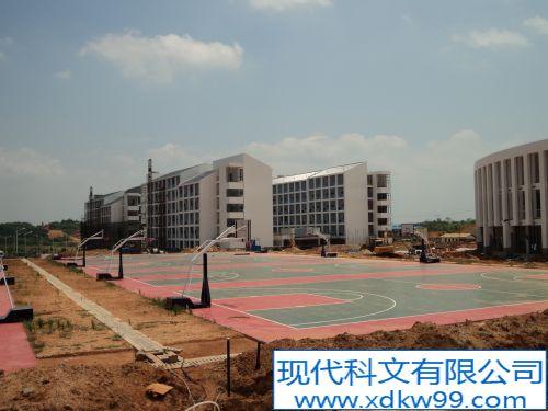 现代科文硅PU案例-九华汽修学院