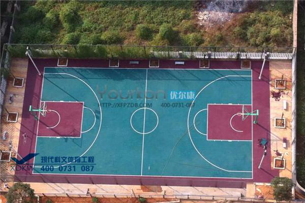 优尔康悬浮拼装篮球场案例