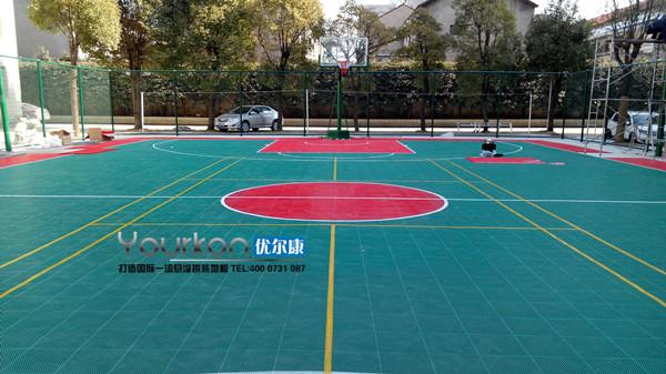 张家界悬浮拼装篮球场案例