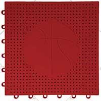 篮球场专用嵌入式地板(红色)