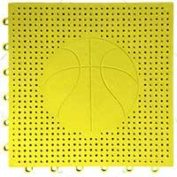 篮球场专用嵌入式地板(黄色)