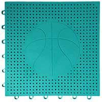 篮球场专用嵌入式地板(墨绿)