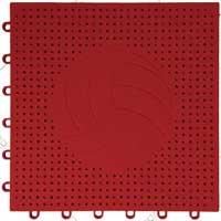 排球场专用嵌入式地板(红色)