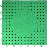 排球场专用嵌入式地板(绿色)